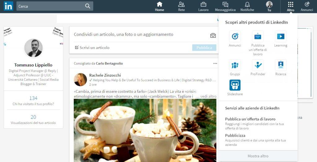 Altro - Nuovo LinkedIn 2017