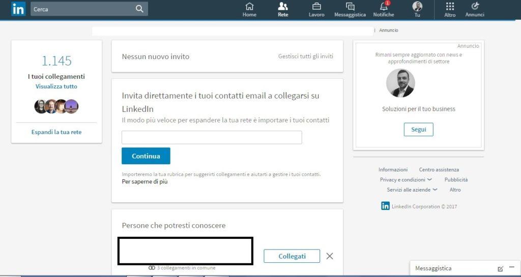 Rete - Nuovo LinkedIn 2017