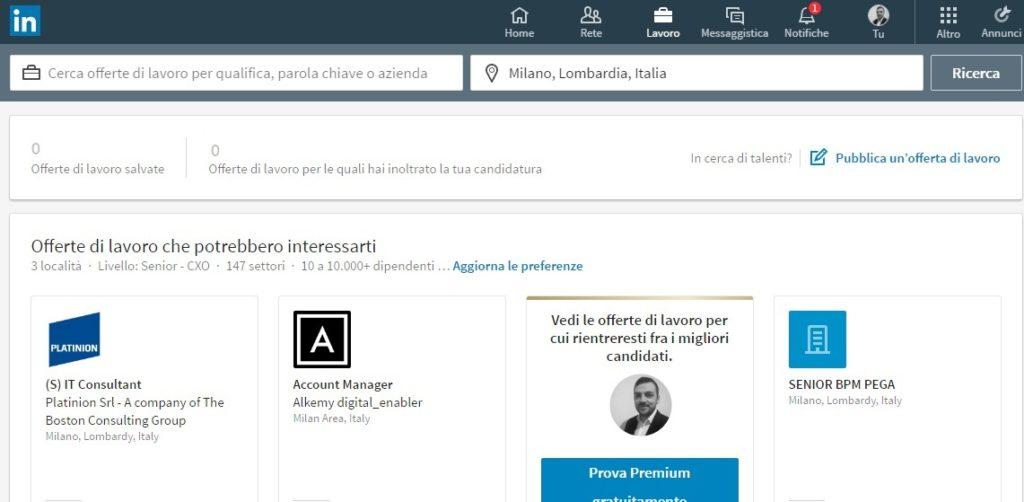 Lavoro - Nuovo LinkedIn 2017