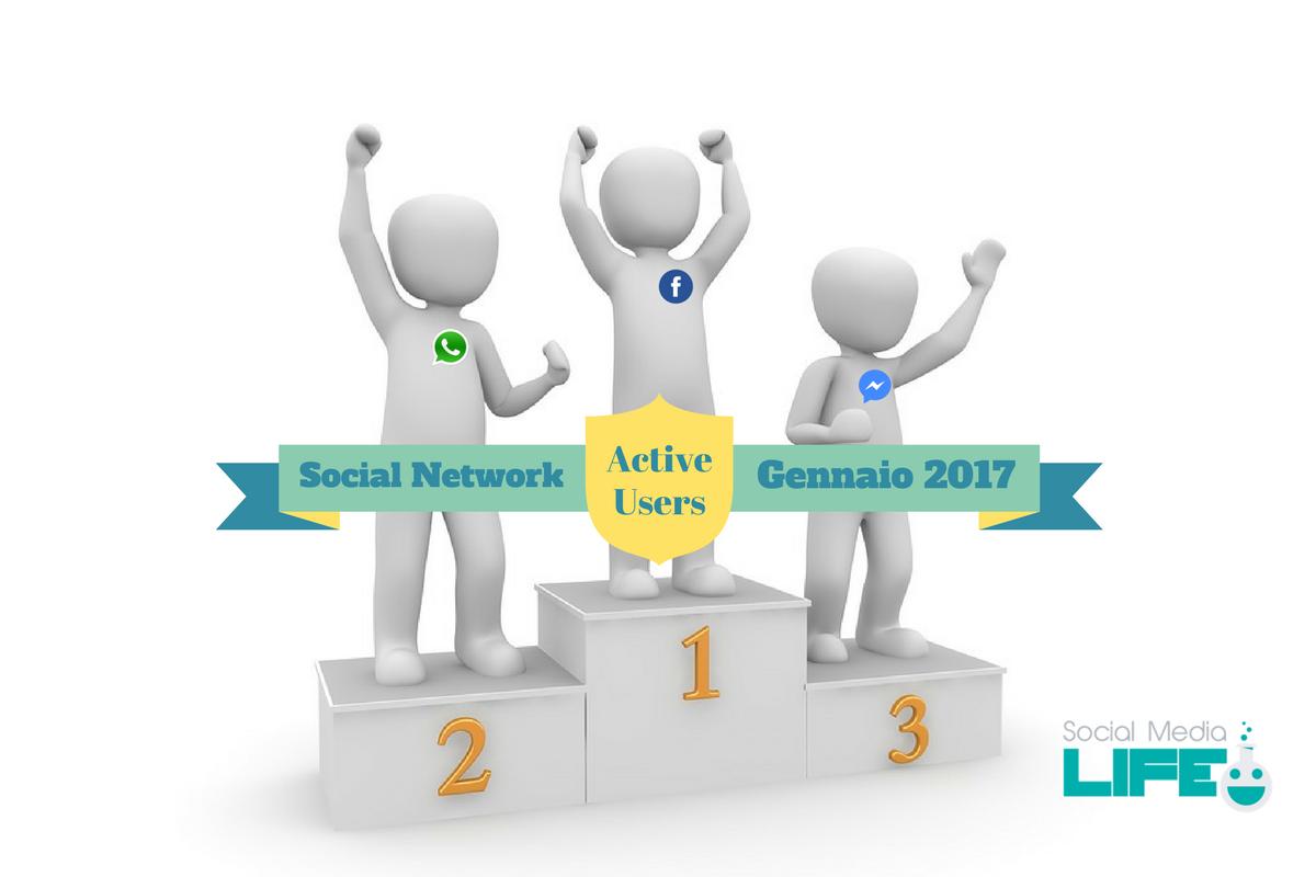 Classifica Social Media più utilizzati Gennaio 2017