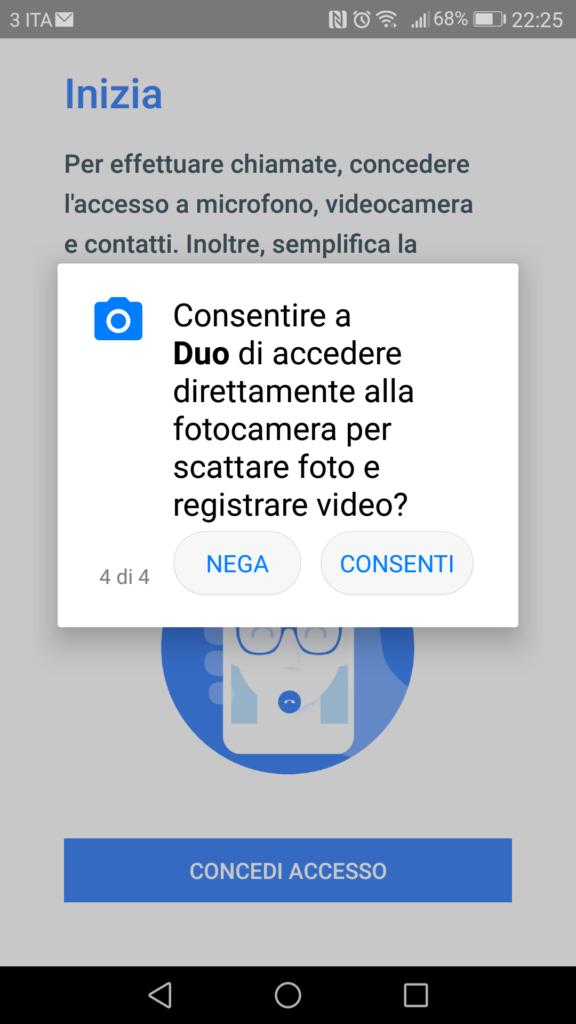 Google Duo - Consenso Fotocamera