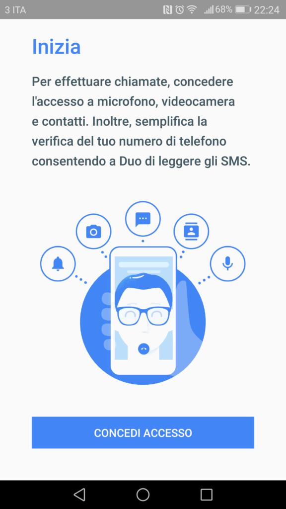Google Duo - Inizia