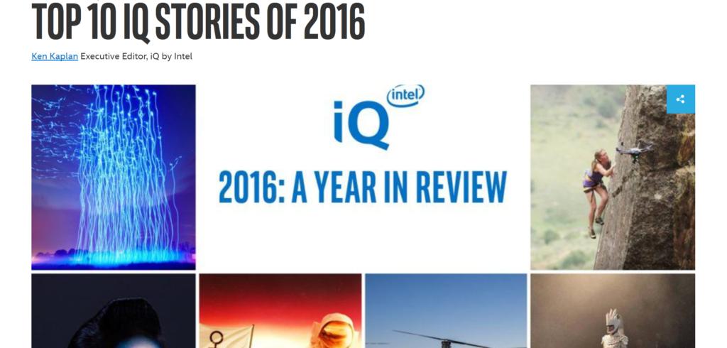 Intel iQ STORIES