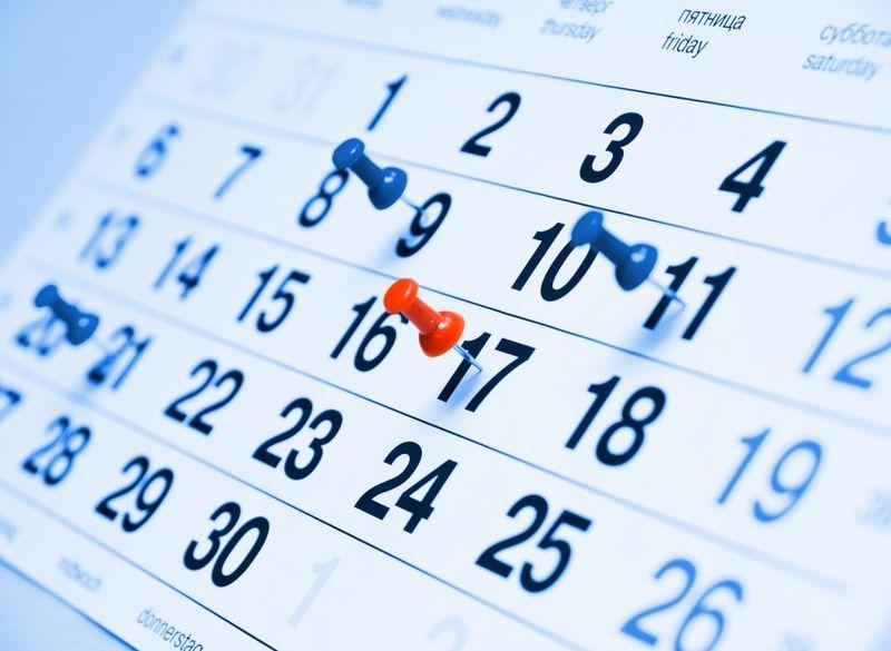 Calendario piano editoriale