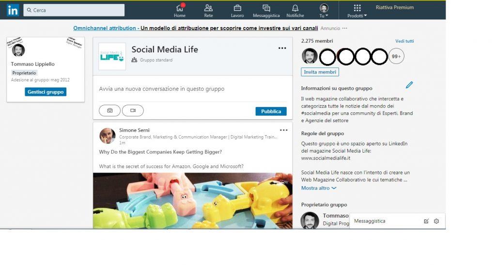 Nuovo Layout Gruppi LinkedIn -Social Media Life